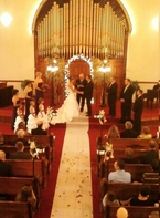 Beautiful Amanda and her November 1st wedding ceremony at The Olde North Chapel, Richmond, Indiana