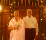 A simple wedding ceremony at The Olde North Chapel, Richmond, Indiana