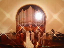 Wedding at The Olde North Chapel in the 1980's